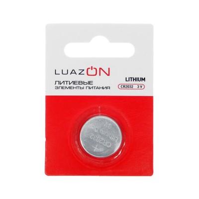 Батарейка литиевая LuazON, CR2032, блистер, 1 шт