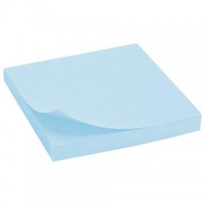 Блок самоклеящийся (стикер) BRAUBERG, 76х76 мм, 100 л., голубой