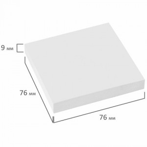 Блок самоклеящийся (стикеры) STAFF, 76х76 мм, 100 листов, белый