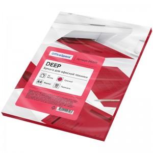 Бумага цветная OfficeSpace deep А4, 80г/м2, 50л. (красный)