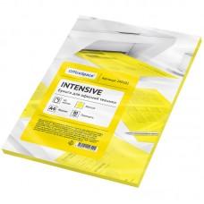 Бумага цветная OfficeSpace intensive А4, 80г/м2, 50л. (желтый)