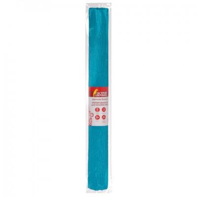 Бумага крепированная для творчества и флористики, 110 г/м2, голубая, 50х250 см, ОСТРОВ СОКРОВИЩ