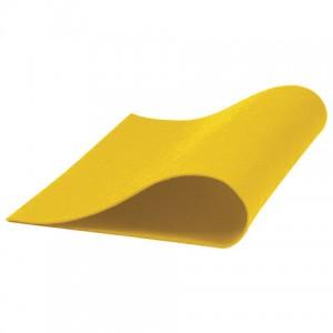 Цветной фетр для творчества, А4, ОСТРОВ СОКРОВИЩ, 5 листов, 5 цветов, толщина 2 мм, оттенки желтого