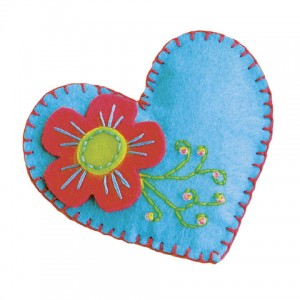 Цветной фетр для творчества, А4, ОСТРОВ СОКРОВИЩ, 5 листов, 5 цветов, толщина 2 мм