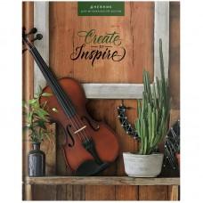 """Дневник для музыкальной школы 48л. (твердый) ArtSpace """"Прекрасная скрипка"""", глянцевая ламинация"""