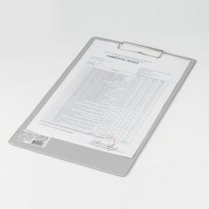 """Доска-планшет BRAUBERG """"Comfort"""" с прижимом А4 (230х350 мм), картон/ПВХ, РОССИЯ, СЕРАЯ"""