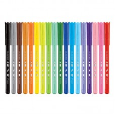 """Фломастеры Maped """"Color Pep's Ocean"""", 18цв., смываемые"""