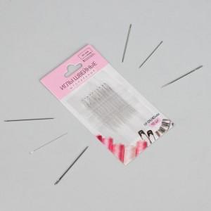 Иглы швейные для штопки, заострённые, 4 см, d = 0,9 мм, 10 шт