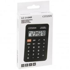Калькулятор карманный Citizen LC-310NR, 8 разрядов, питание от батарейки, 69*114*14мм, черный