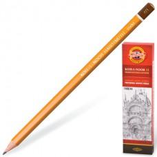 Карандаш чернографитный KOH-I-NOOR 1500, 1 шт., 4B, без резинки, корпус желтый, заточенный