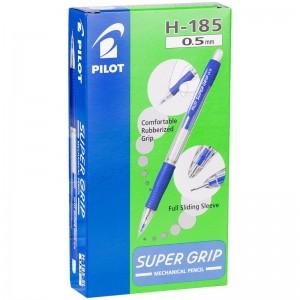 """Карандаш механический Pilot """"Super Grip"""", 0,5мм, с ластиком, синий корпус"""