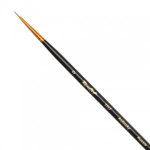 Кисть художественная ROUBLOFF (Рублев) колонок, круглая, № 0, длинная ручка