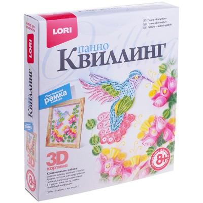 """Квиллинг-панно Lori 3D """"Колибри"""", с рамкой, картонная коробка"""