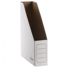 Лоток вертикальный для бумаг (260х320 мм), 75 мм, до 700 листов, микрогофрокартон, STAFF, БЕЛЫЙ