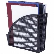 """Лоток вертикальный для бумаг STAFF """"Profit"""", 270х100х250 мм, сетчатый, полипропилен, черный"""
