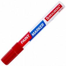 Маркер-краска лаковый EXTRA (paint marker) 4 мм, КРАСНЫЙ, УЛУЧШЕННАЯ НИТРО-ОСНОВА, BRAUBERG