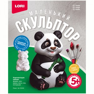 """Набор для изготовления игрушки из гипса Lori """"Маленький скульптор. Панда"""""""