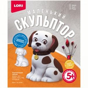 """Набор для изготовления игрушки из гипса Lori """"Маленький скульптор. Щенок"""""""