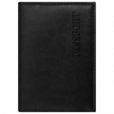 """Обложка для паспорта STAFF, экокожа, мягкая изолоновая вставка, """"PASSPORT"""", черная"""