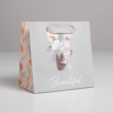Пакет ламинированный квадратный Beautiful, 14 × 14 × 9 см