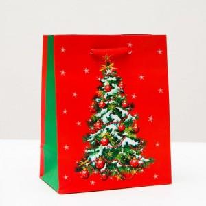 """Пакет подарочный """"С новым годом! Ёлка!"""", 11,5 х 14,5 х 6,5 см"""