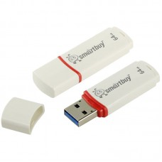"Память Smart Buy ""Crown"" 64GB, USB 2.0 Flash Drive, белый"