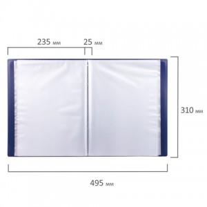 Папка 100 вкладышей STAFF, синяя, 0,7 мм