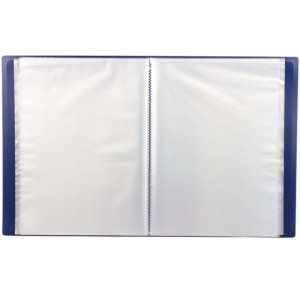 Папка 60 вкладышей STAFF, синяя, 0,5 мм