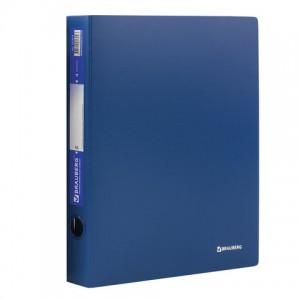 "Папка на 4 кольцах BRAUBERG ""Стандарт"", 40 мм, синяя, до 300 листов, 0,9 мм"