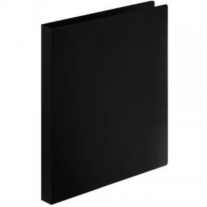 Папка на 4 кольцах STAFF, 25 мм, черная, до 170 листов, 0,5 мм