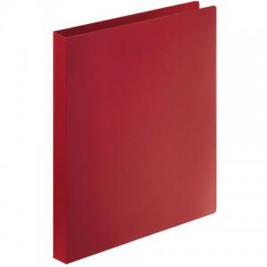 Папка на 4 кольцах STAFF, 25 мм, красная, до 120 листов, 0,5 мм