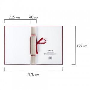 Папка-обложка для дипломного проекта STAFF, А4, 215х305 мм, фольга, 3 отверстия под дырокол, шнур, бордовая
