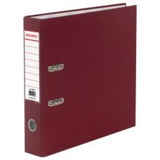 Папка-регистратор BRAUBERG с покрытием из ПВХ, 70 мм, бордовая (удвоенный срок службы)