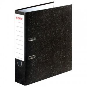 """Папка-регистратор STAFF """"Бюджет"""" с мраморным покрытием, 70 мм, без уголка"""
