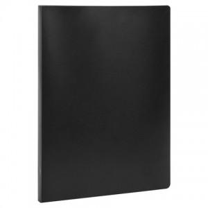 Папка с металлическим скоросшивателем STAFF, черная, до 100 листов, 0,5 мм