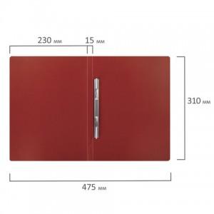 Папка с металлическим скоросшивателем STAFF, красная, до 100 листов, 0,5 мм