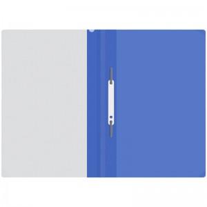 Папка-скоросшиватель пластик. OfficeSpace, А4, 120мкм, синяя с прозр. верхом