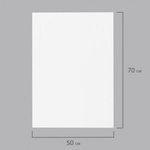 Пористая резина (фоамиран) для творчества, БЕЛАЯ, 50х70 см, 1 мм, ОСТРОВ СОКРОВИЩ