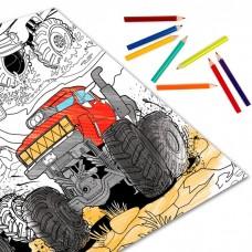 Раскраска гигант «Монстр-ралли»