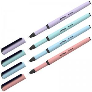 """Ручка гелевая Berlingo """"Instinct"""", 0,5мм, черная, корпус ассорти"""