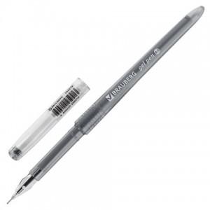 Ручка гелевая BRAUBERG DIAMOND, ЧЕРНАЯ, игольчатый узел 0,5 мм, линия письма 0,25 мм