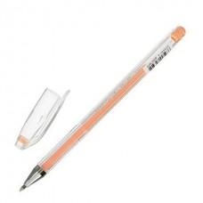 """Ручка гелевая CROWN """"Hi-Jell Pastel"""", ОРАНЖЕВАЯ ПАСТЕЛЬ, узел 0,8 мм, линия письма 0,5 мм"""