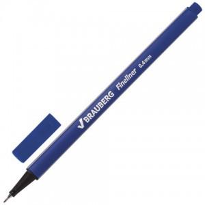 """Ручка капиллярная BRAUBERG """"Aero"""", СИНЯЯ, трехгранная, линия письма 0,4 мм"""
