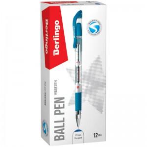 """Ручка шариковая Berlingo """"Western"""" синяя, 0,5мм, грип"""