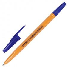 """Ручка шариковая CORVINA (Италия) """"51 Vintage"""", СИНЯЯ, корпус оранжевый, узел 1 мм, линия письма 0,7 мм, 40163/02"""