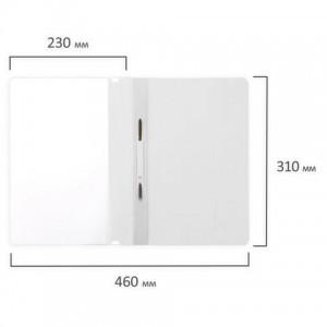 Скоросшиватель пластиковый BRAUBERG, А4, 130/180 мкм, белый