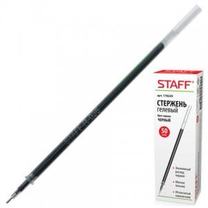 Стержень гелевый STAFF, 135 мм, ЧЕРНЫЙ, игольчатый узел 0,5 мм, линия письма 0,35 мм