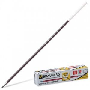 Стержень шариковый BRAUBERG 152 мм, КРАСНЫЙ, узел 1 мм, линия письма 0,5 мм