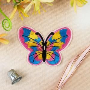 Термоаппликация «Бабочка», 6 × 7,5 см, цвет МИКС