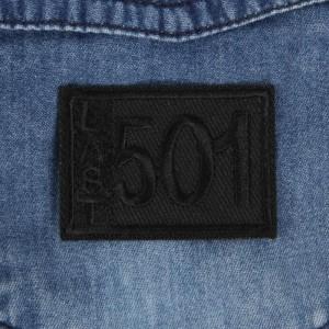 Термоаппликация «Last 501», 4,6 × 3,3 см, цвет чёрный